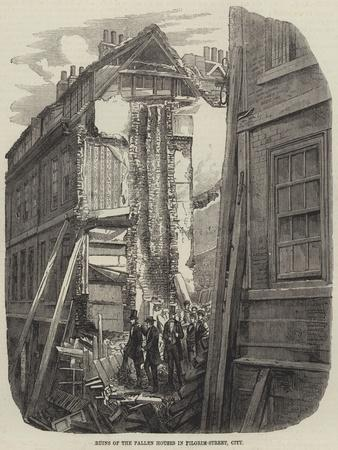 Ruins of the Fallen Houses in Pilgrim-Street, City