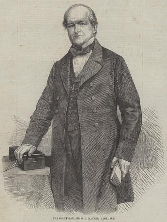 The Right Honourable Sir W G Hayter, Baronet