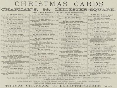 Advertisement, Chapman's Christmas Cards