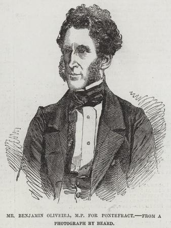 Mr Benjamin Oliveira, Mp for Pontefract