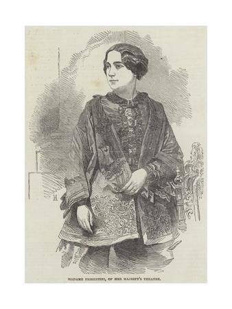 Madame Fiorentini, of Her Majesty's Theatre