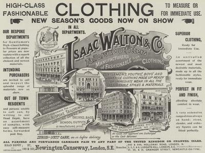 Advertisement, Isaac Walton and Company