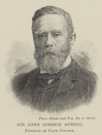 Sir John Gordon Sprigg, Premier of Cape Colony