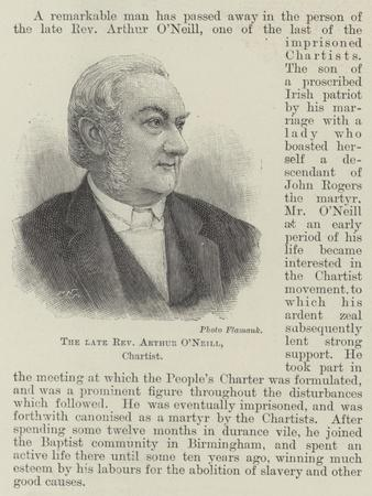 The Late Reverend Arthur O'Neill, Chartist