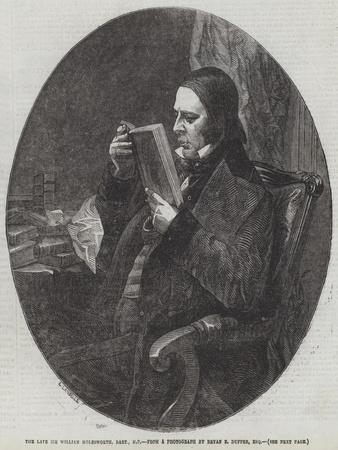 The Late Sir William Molesworth, Baronet, Mp