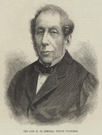 The Late M De Remusat, French Statesman