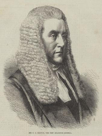 Sir C J Selwyn, the New Solicitor General
