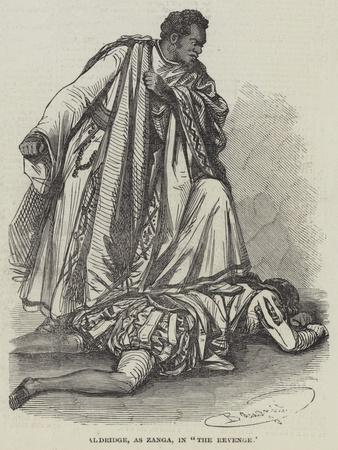 Aldridge, as Zanga, in The Revenge
