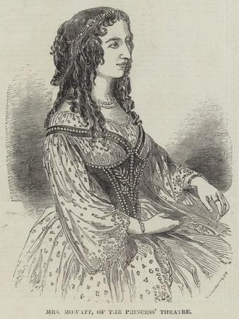 Mrs Mowatt, of the Princess' Theatre