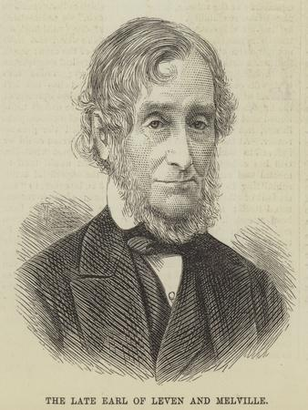 The Late Earl of Leven and Melville