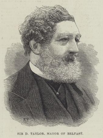 Sir D Taylor, Mayor of Belfast