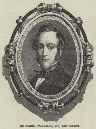 Sir Joshua Walmsley, Mp for Bolton