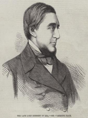 The Late Lord Herbert of Lea