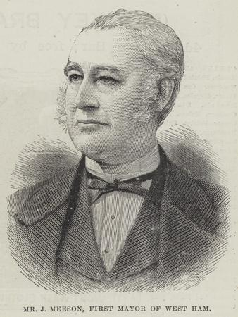 Mr J Meeson, First Mayor of West Ham