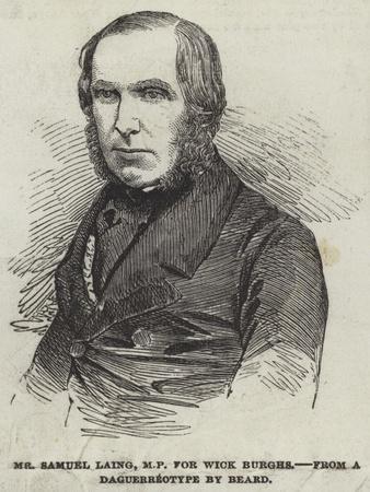 Mr Samuel Laing, Mp for Wick Burghs