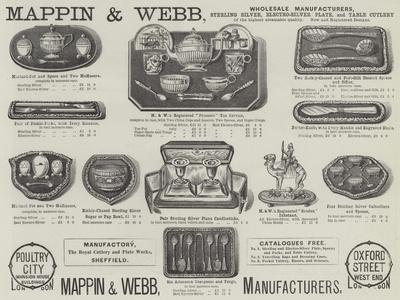 Advertisement, Mappin and Webb