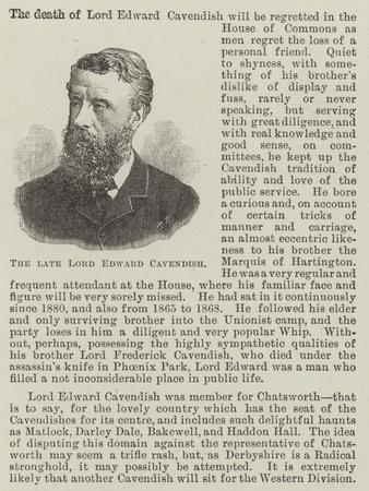 The Late Lord Edward Cavendish