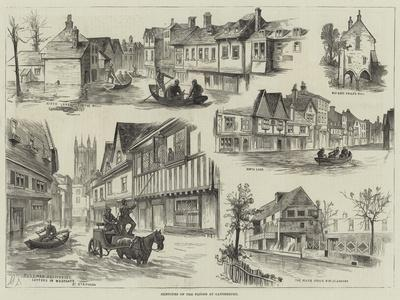 Sketches of the Floods at Canterbury