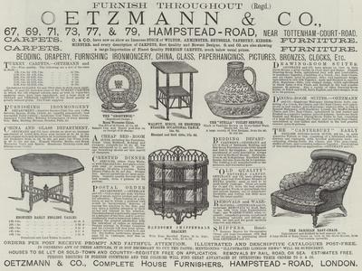 Advertisement, Oetzmann and Company