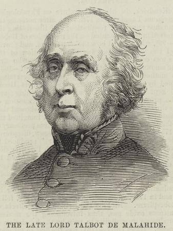 The Late Lord Talbot De Malahide