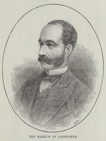 The Marquis of Lansdowne