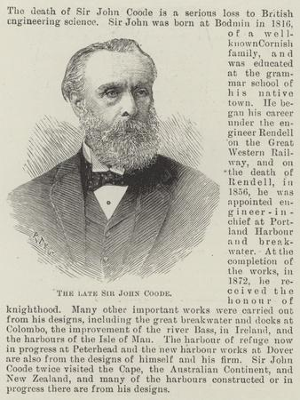 The Late Sir John Coode