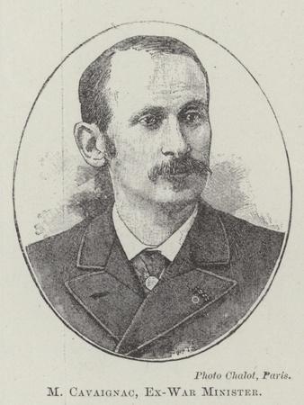 M Cavaignac, Ex-War Minister