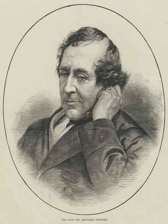 The Late Mr Benjamin Webster