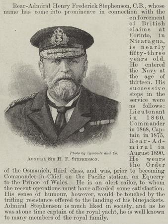 Admiral Sir H F Stephenson
