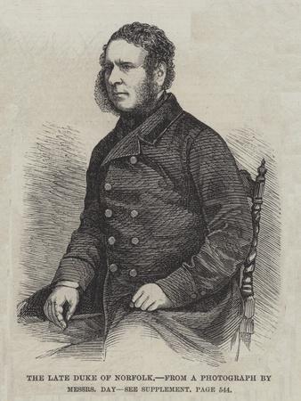 The Late Duke of Norfolk
