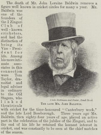 The Late Mr John Baldwin