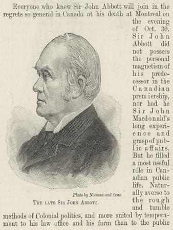 The Late Sir John Abbott