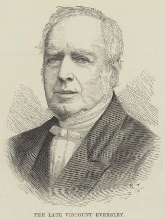 The Late Viscount Eversley