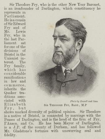 Sir Theodore Fry, Baronet