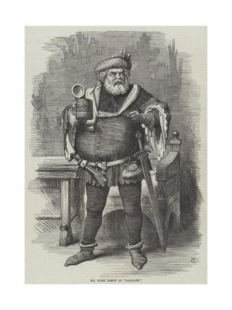 Mr Mark Lemon as Falstaff