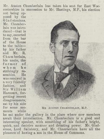 Mr Austen Chamberlain