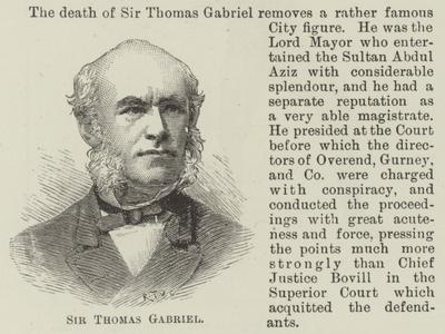 Sir Thomas Gabriel