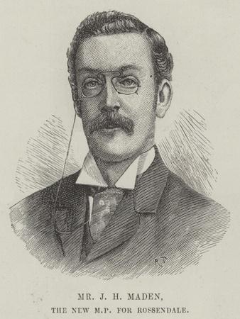 Mr J H Maden