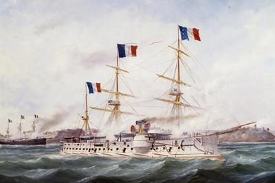 Courbet Navy Squadron Capturing Makung in 1884