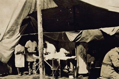 Italian Field Hospital at the Front, World War I, Italy, 20th Century