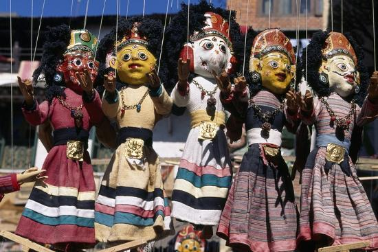 Colorful Puppets At Stall Durbar Square Kathmandu Nepal Giclee