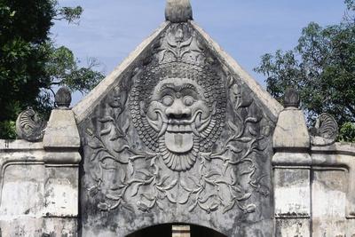 Grotesque Mask, Taman Sari, Yogyakarta, Java, Indonesia, 17th Century