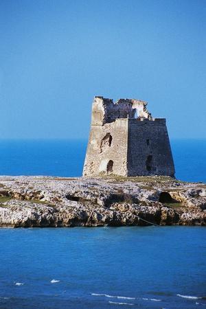 Gargano Watchtower Near Peschici, 16th Century, Apulia, Italy