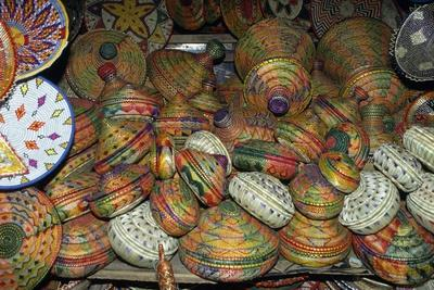 Handcrafted Straw Baskets in Market in Addis Ababa, Ethiopia
