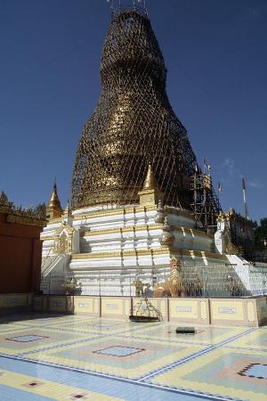 Pagoda on Hill, Sagaing, Myanmar (Burma)