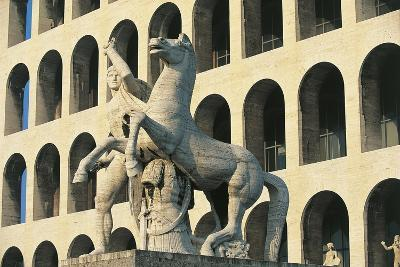 Statue in Front of a Building, Rome, Lazio, Italy