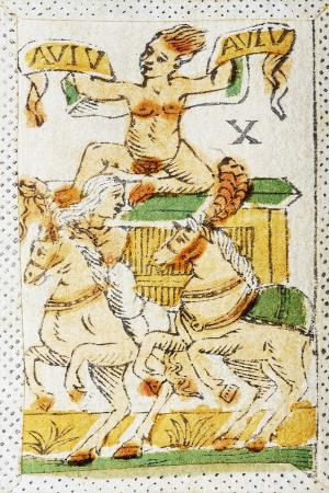 Tarot Card Depicting Chariot, 16th Century, Italy
