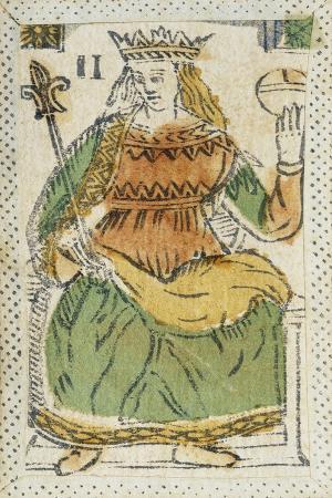 Tarot Card Depicting Empress, 16th Century, Italy