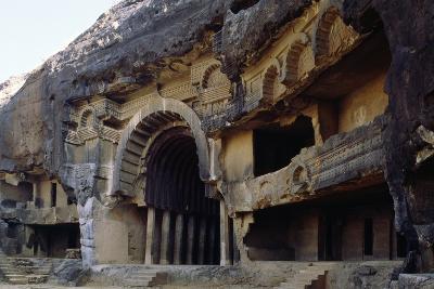 Large Horseshoe Door of Chaitya 12, Bhaja, India