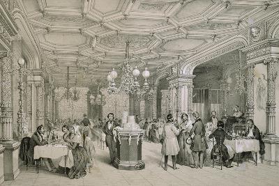 Restaurant, Paris, 1840, France, 19th Century